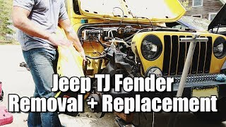 Jeep Wrangler TJ Fender Removal 1997 - 2006 | TJ Fender Replacement