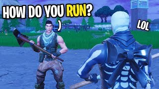 I FOUND THE BIGGEST NOOB AND CARRIED HIM ON FORTNITE... (HE COULD'NT EVEN SPRINT)