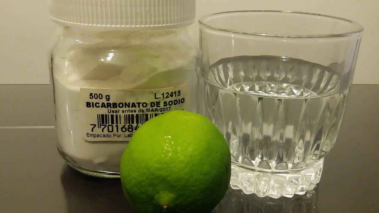 Bebida de bicarbonato y limon para adelgazar