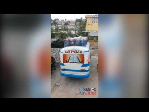 Así se van los cubanos de Haití para Cuba
