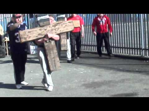 Ben Richards, Olympic sports gym strongman 2012, carry for distance