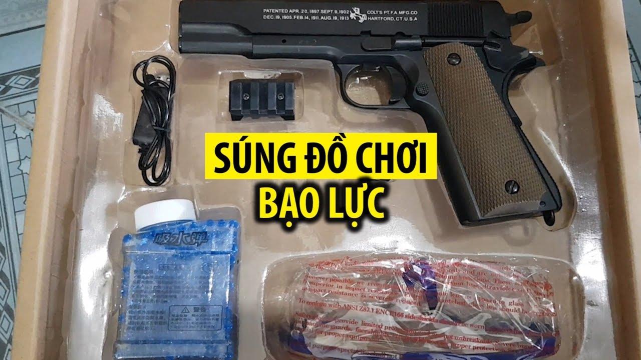 Cận cảnh lô hàng súng đồ chơi mang tính bạo lực