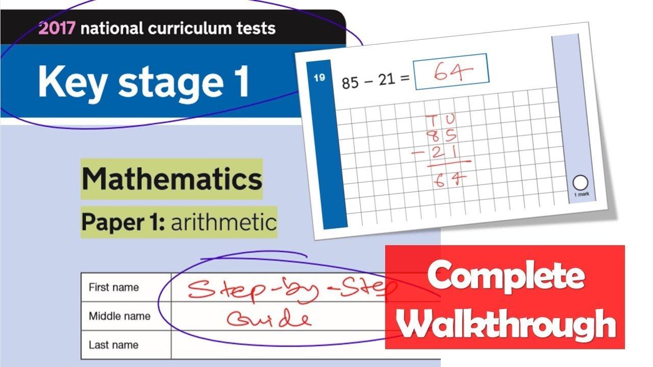 KS1 Maths SATS 2017 | Paper 1 Arithmetic | Complete Walkthrough