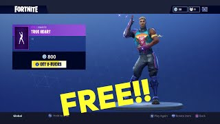 HOW TO GET *NEW* TRUE HEART EMOTE IN FORTNITE FOR FREE! *FREE V-BUCKS*