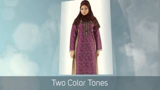 """Golden Salamander"" Shantung jilbab dress"