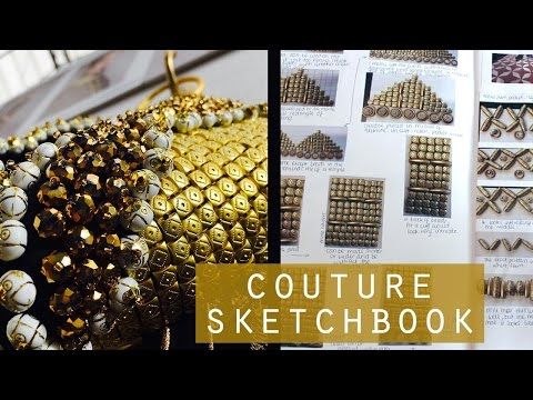 Haute Couture Fashion Sketchbook Pages
