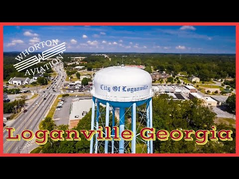 Drone Over Downtown Loganville, Georgia