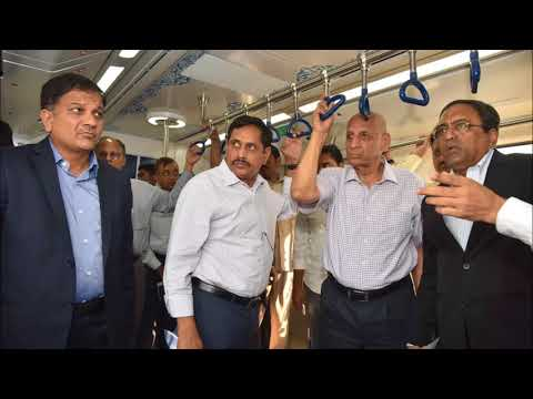 Hyderabad  Metro Rail | KTR & Governor take a trip from SR Nagar to Miyapur