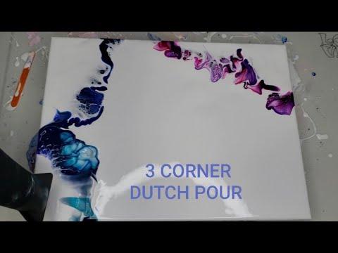 3 Corner Dutch Pour! Acrylic Pouring/ Fluid Art #dutchpour#fluidart#tammyandersonart