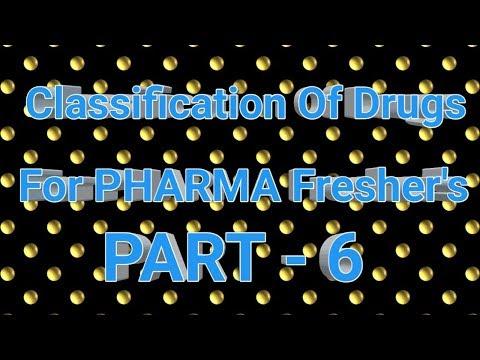 Classification Of Pharmacology Drugs Part #6 For Pharma Fresher's    Pharma Guide