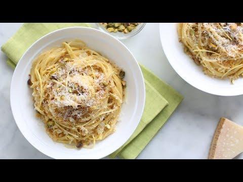 Creamy Lemon Pasta with Pistachios- Everyday Food with Sarah Carey