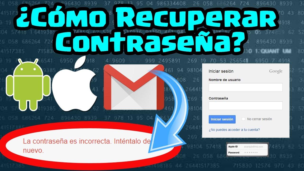Cómo Recuperar La Cuenta Y Contraseña Olvidada En Gmail Android Y Apple Id Iphone Ipad ǀ Ecoc