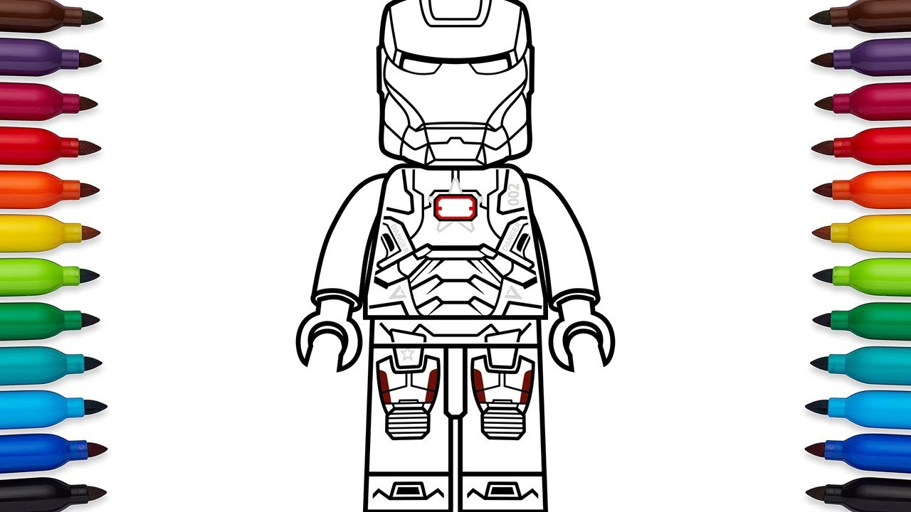 War Machine Coloring Page