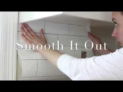 Diy White Subway Tile Temporary Backsplash Youtube