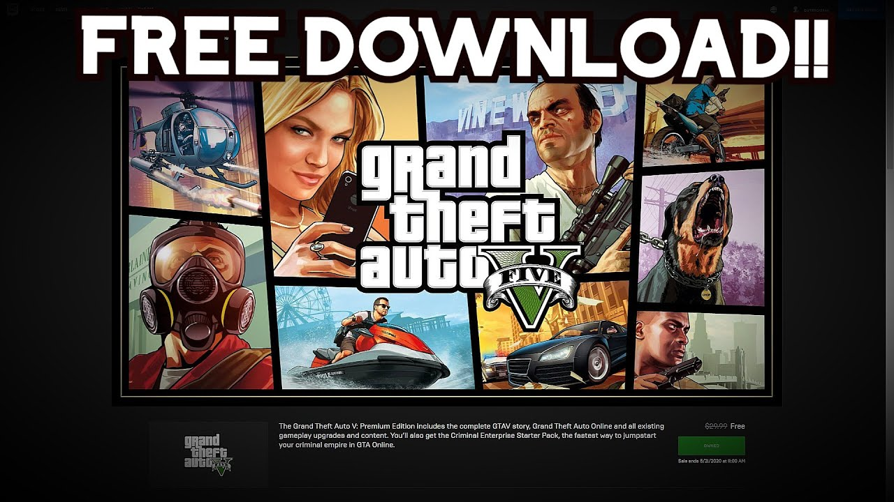 Gta 5 Is Free Now Play Online And Offline For Free Epic Games Store Youtube