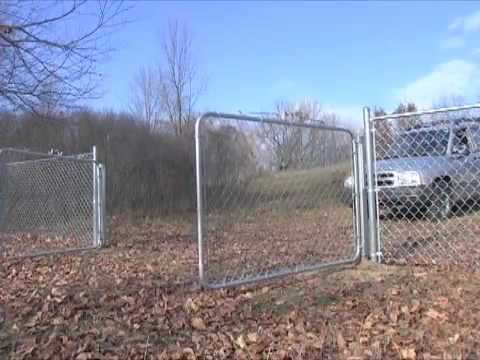 Chain Link Gate Opener Youtube