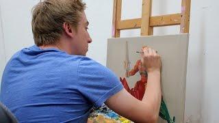 Joe Simpson paints 'He-Man & Battle Cat' action figures // TIME LAPSE