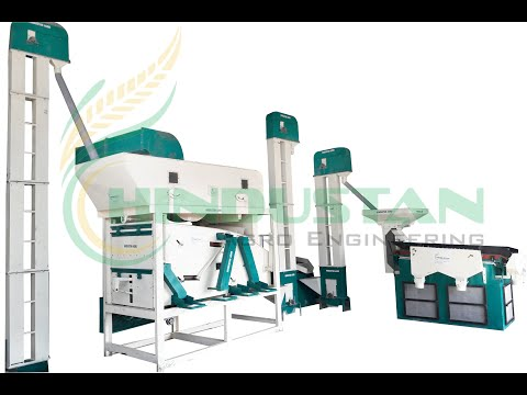 SEED CLEANING MACHINE WITH GRADING PLANT