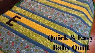 DIY Baby Quilt - Super Simple!