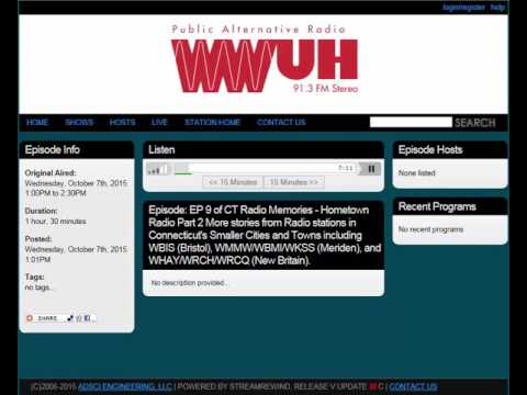 Small Cities, pt. 2 | ep. 9 of Connecticut Radio Memories | 2015 WWUH Documentary