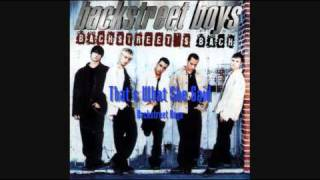 Backstreet Boys -That's What She Said (HQ)