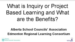 What are the Benefits of Inquiry or a Project...