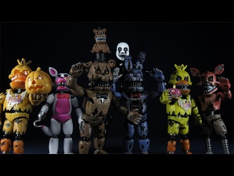 FUNKO FIVE NIGHTS AT FREDDY'S FNAF WAVE TWO NIGHTMARE/ FUNTIME SET UNBOXING W/ JACK-O-CHICA