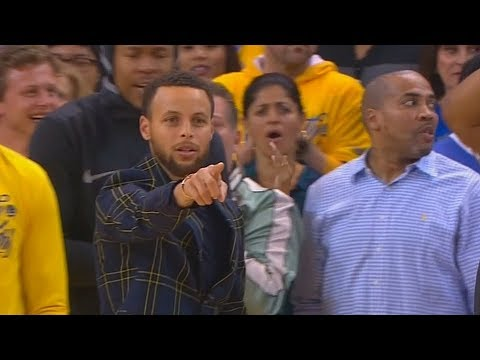 Stephen Curry Can't Believe Andre Iguodala's Dunk! Warriors vs Spurs