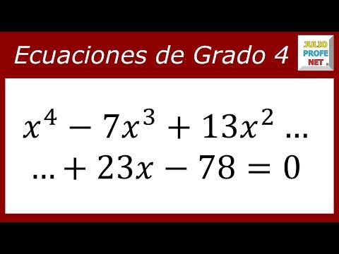 ECUACIONES DE CUARTO GRADO - Ejercicio 2 - YouTube