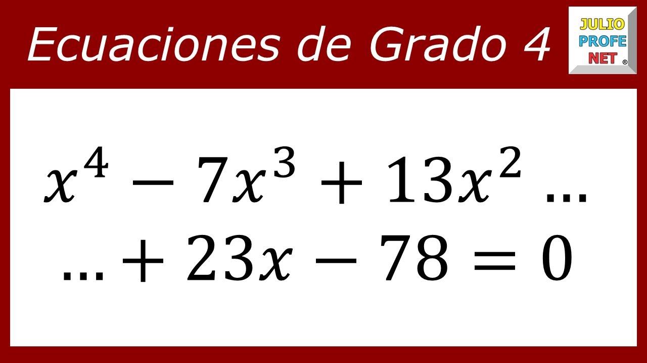 Programa para resolver ecuaciones de grado 4. | Download ...