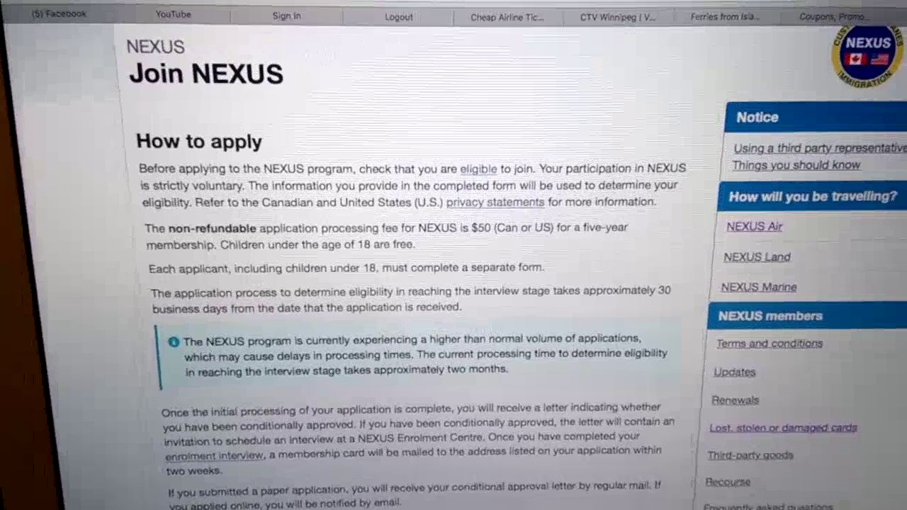 NEXUS Program: How to join and get a card - YouTube