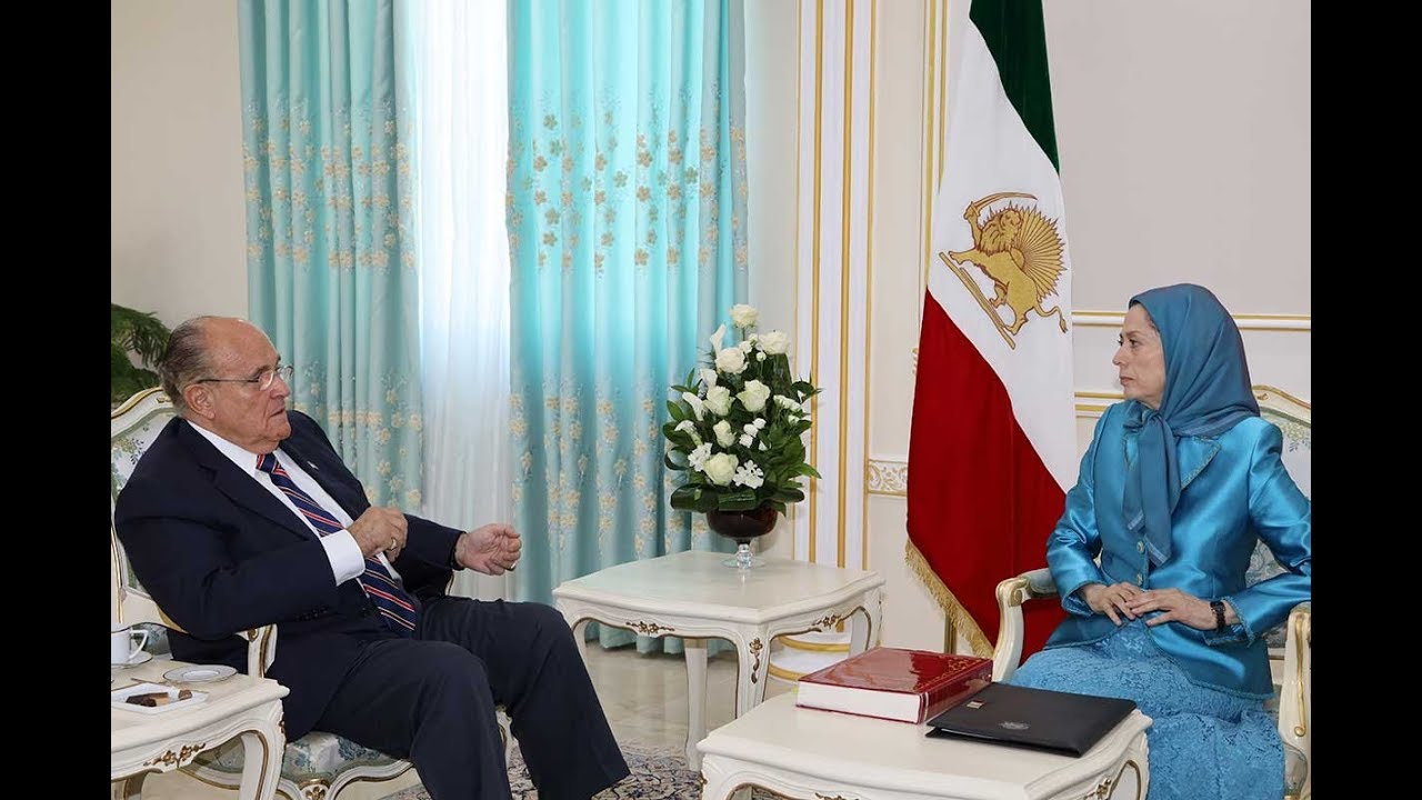 Maryam Rajavi Meets Rudy Giuliani in Albania