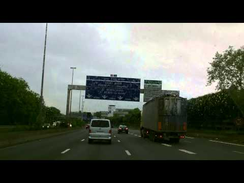 Driving In France - A 1 Roissy - Paris - Boulevard Periferique