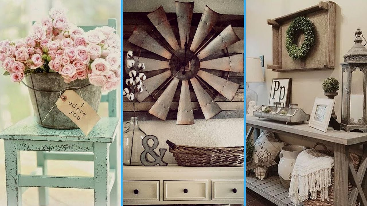 Diy Vintage Rustic Shabby Chic Style Room Decor Ideas