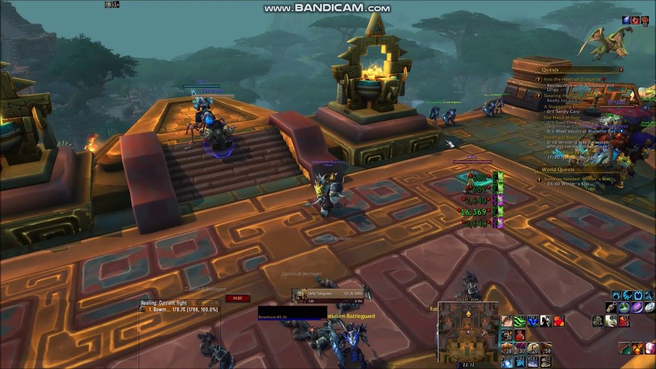 WoW BFA: Questing as Resto Druid with WeakAuras 2, Clique & Vuhdo