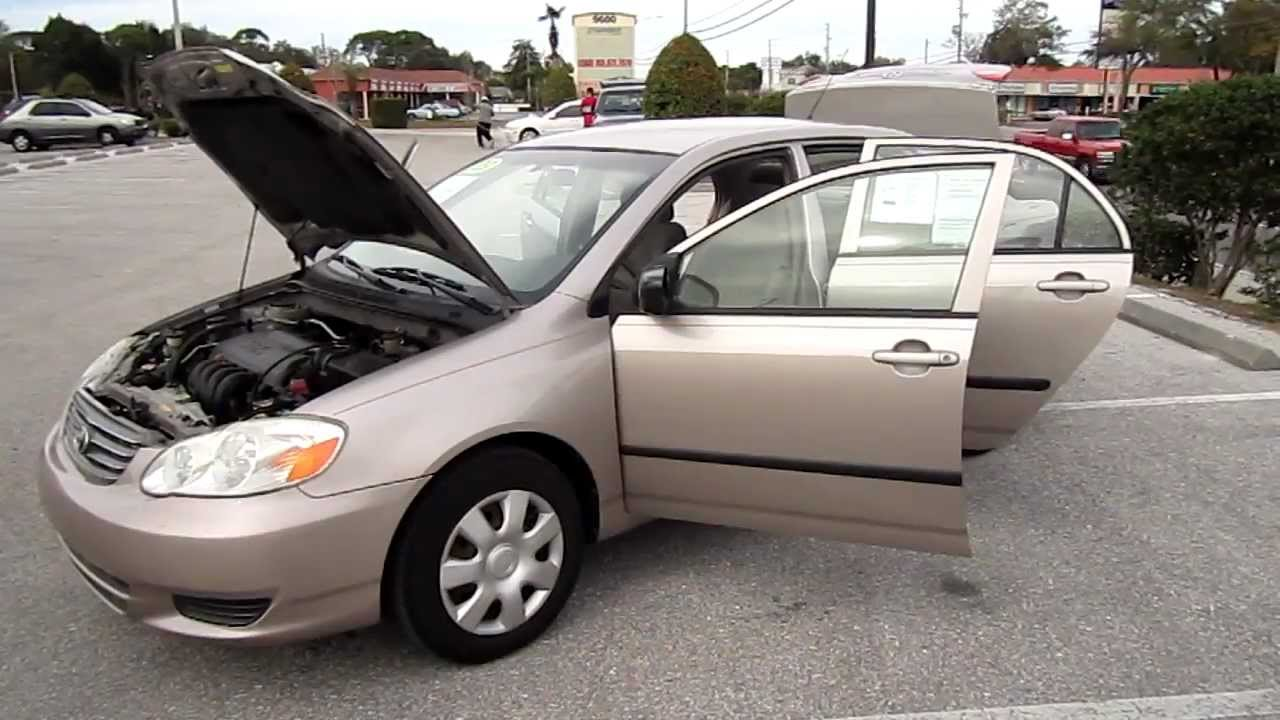Sold 2003 toyota corolla ce manual meticulous motors inc florida for sale look youtube