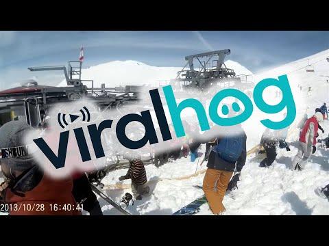 Chairlift Malfunctions in Gudauri  || ViralHog
