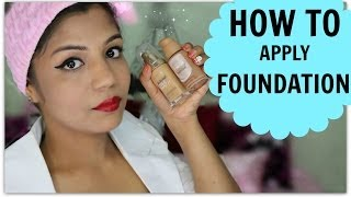 How To Apply Foundation | Indian Skin Tone Brown,Medium,Dark,Olive,Beige Skin | SuperPrincessjo
