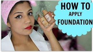How To Apply Foundation | Indian Skin Tone Brown,medium,dark,olive,beige Skin | Superprincessjo