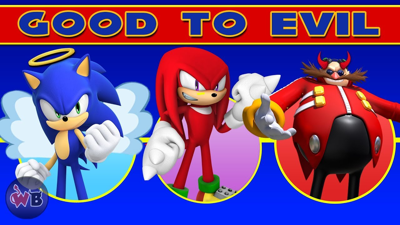 Sonic The Hedgehog Characters Good To Evil Youtube