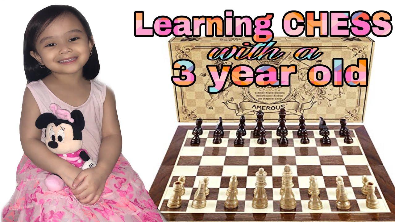 Learning Chess with a 3 year old  I Batang Mahilig na maglaro ng Chess