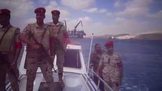 See Black Egyptian army guarding the new Suez Canal