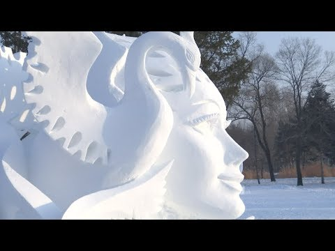 """""""Snow Beauty"""" Wins Title of National Snow Sculpture Competition"""