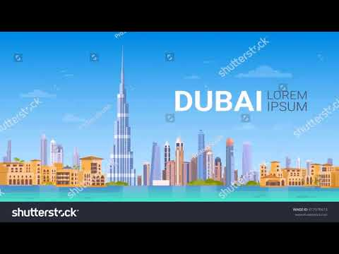 Dubai Building In Vector