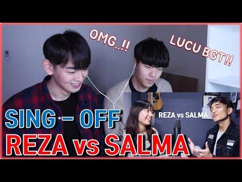[KOREA REAKSI] Siti Badriah - Lagi Syantik (SING-OFF) Reza Darmawangsa VS Salma [Korean reaction]