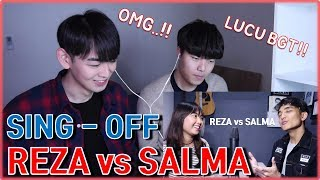 [KOREA REAKSI] Siti Badriah - Lagi Syantik (SING-OFF) Reza Darmawangsa VS Salma [Korean reaction]