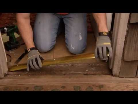 How To Install An Aluminum Door Threshold With A Vinyl Seal Youtube