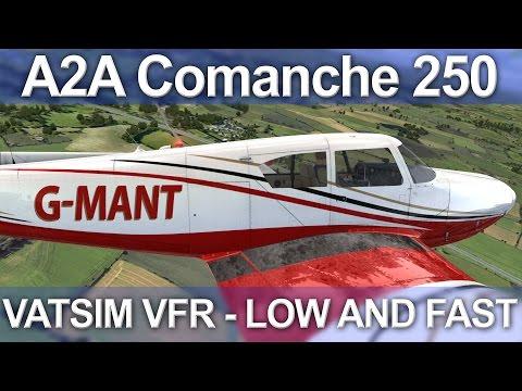 A2A Comanche 250 VATSIM VFR Gloucester - Cardiff