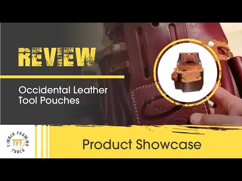 Occidental leather tool pouches from TF Tools supplier for UK and Europe
