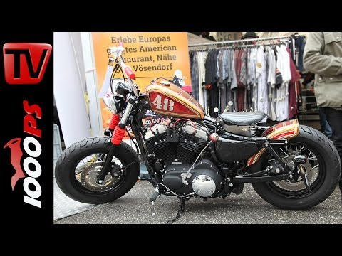 Harley Davidson 48 Custombike by HD-Graz auf der European Bike Week 2014